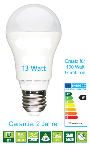 LED Birnen HighPower, 13W, E27