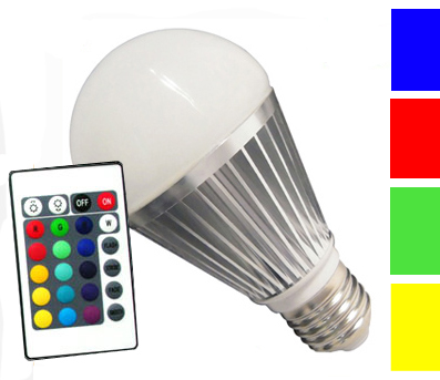 LED Birne Colour P3L-RGB, E27, 3 Watt